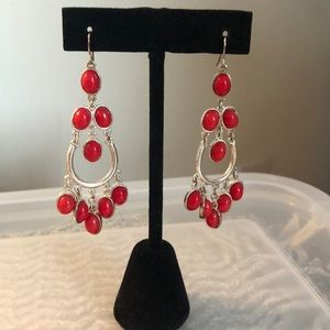 Express Red Statement Earrings